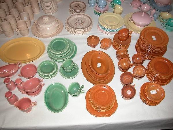 17: Fiesta Wells Art Glaze HLC lot of 93 rust pieces, 3