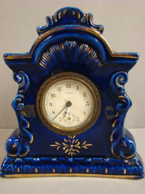 11: New Haven novelty clock, missing second hand, 6 1/2