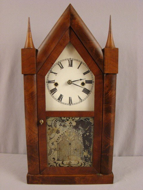"20: G.G. & Co, 8 day steeple clock , 20""h"