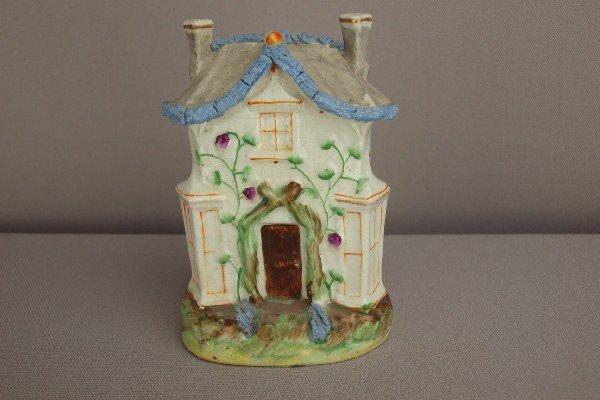 8:  Staffordshire cottage pastille   burner with gray r