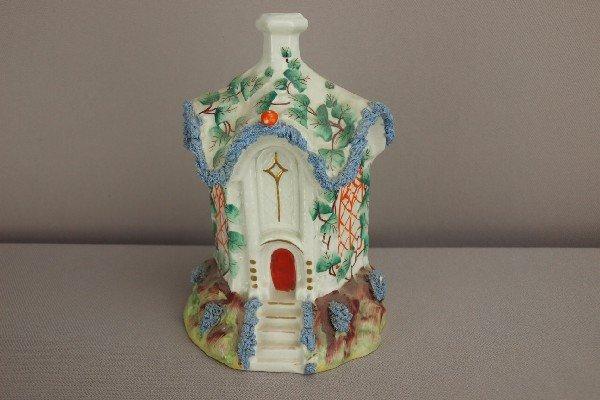 11:  Staffordshire cottage pastille   burner with blue