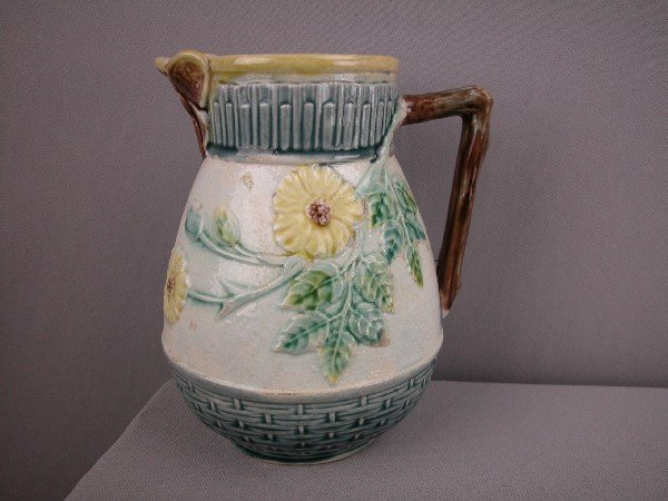 512:  ETRUSCA wild rose pitcher   with butterfly spout,