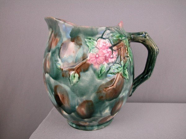 """516:  ETRUSCAN hawthorn large   pitcher, 8"""""""