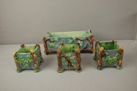 Thomas Sergent Palissy Set Of Small Planters, One