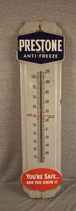 7: Prestone Anti-Freeze porcelain advertising thermomet