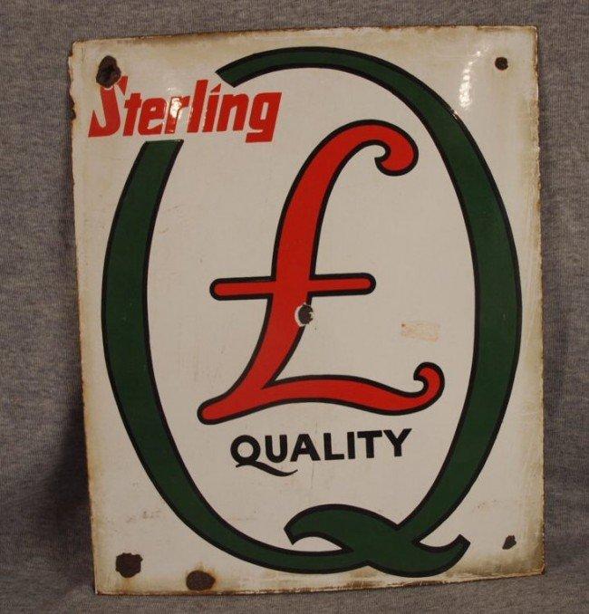 17: Sterling Quality porcelain advertising sign, some l