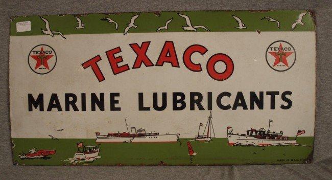 61: Texaco Marine Lubricants very rare porcelain sign w