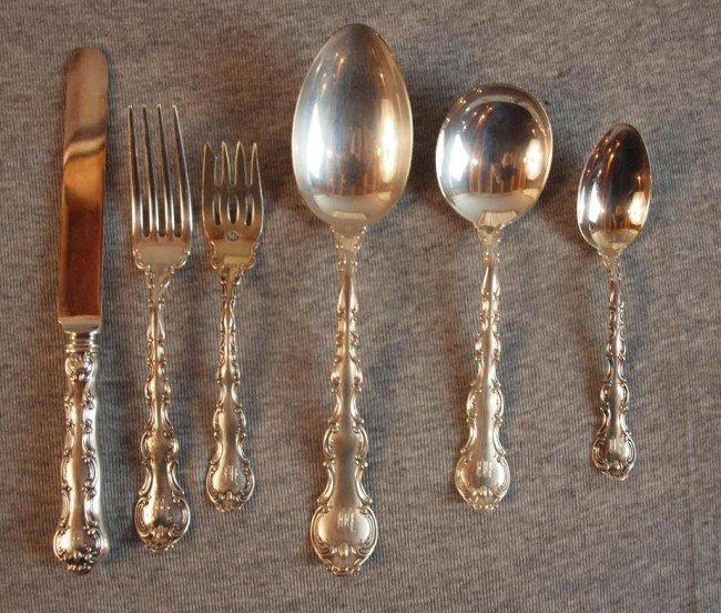 "1: Gorham Strasbourg set of sterling silver flatware, """