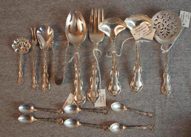 3: Gorham Strasbourg sterling flatware serving pieces,