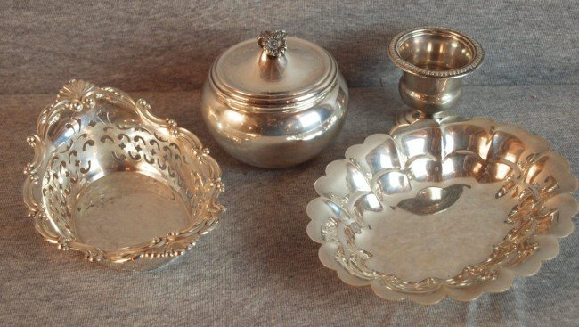 19: Lot of 4 sterling silver holloware items, 18.6 oz