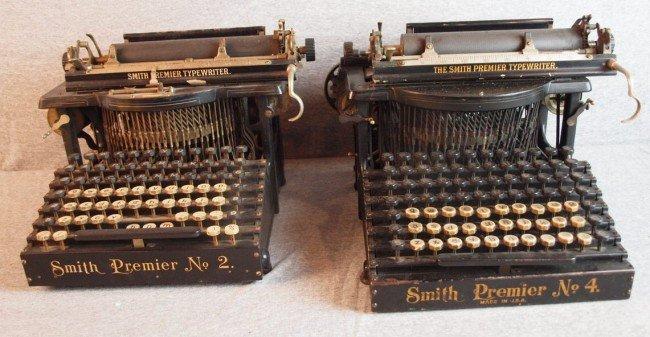 52: Smith Premier No. 2 & No. 4 typewriters