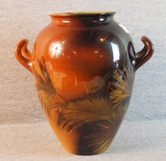 187: Rookwood monumental standard glaze art pottery two