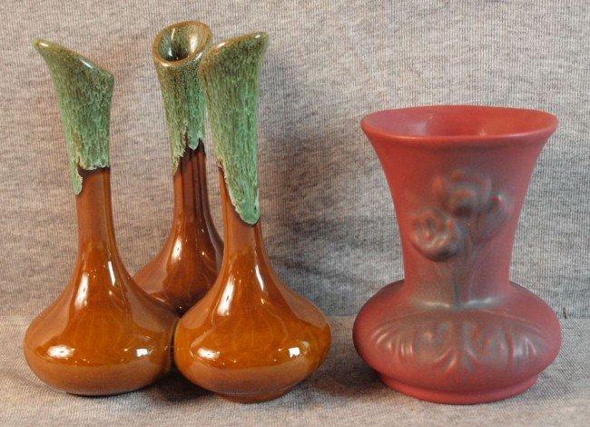 190: Two VanBriggle vases