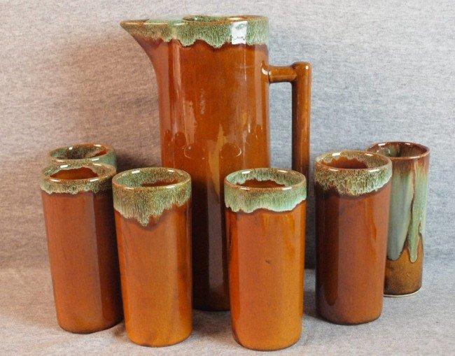 191: VanBriggle 7 piece lemonade set with tankard and 6