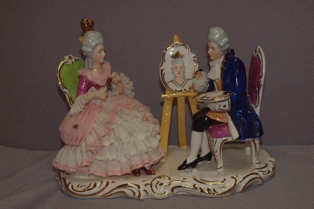 189E: Dresden Germany figure of Victorian couple