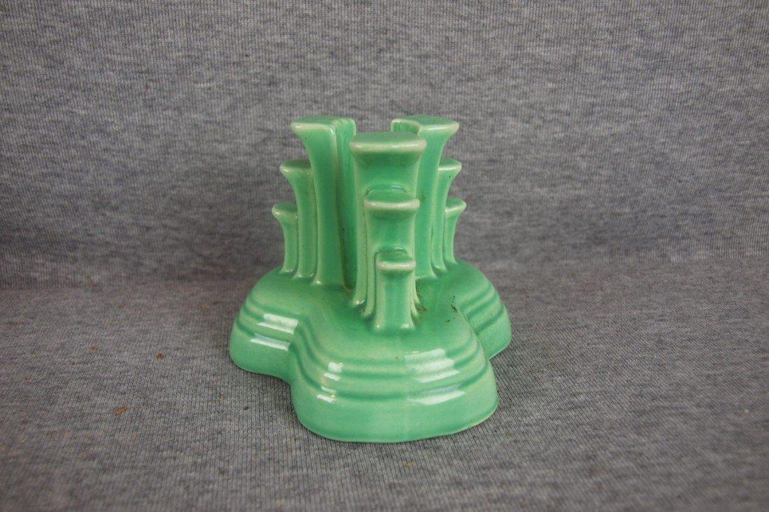 5: Fiesta light green singletripod candle holder