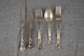 2:  Partial set of Gorham sterling silver flatware, 8 d