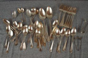 3:  Sterling silver lot of assorted flatware, 44 pieces