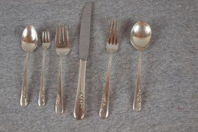 7:  International sterling silver set of Blossom Time p