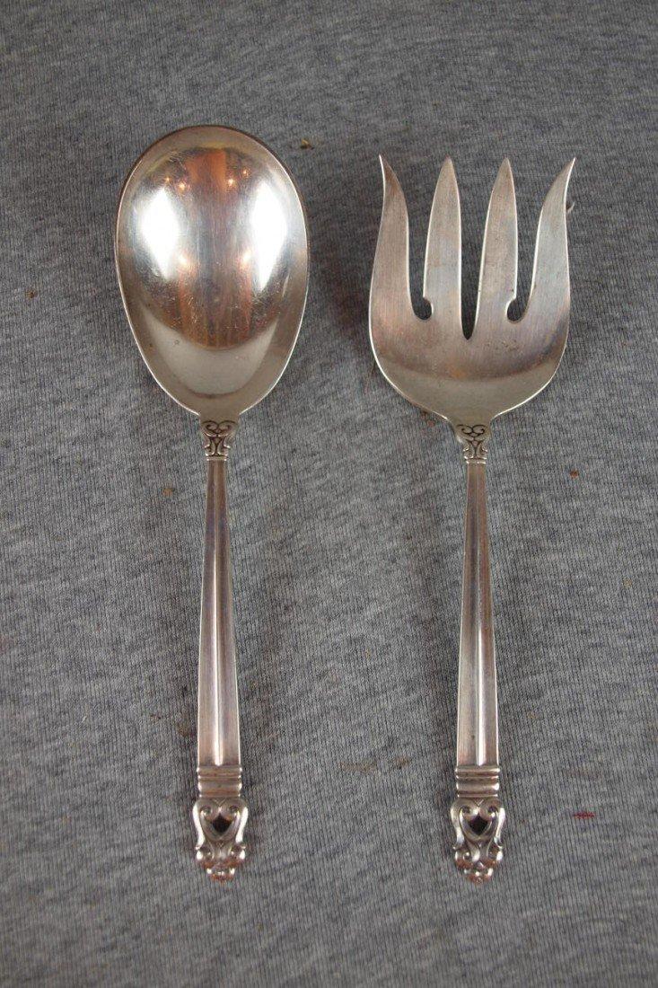 13:  International Royal Danish sterling silver spoon a