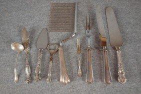 14: Sterling silver and sterling handled flatware servi