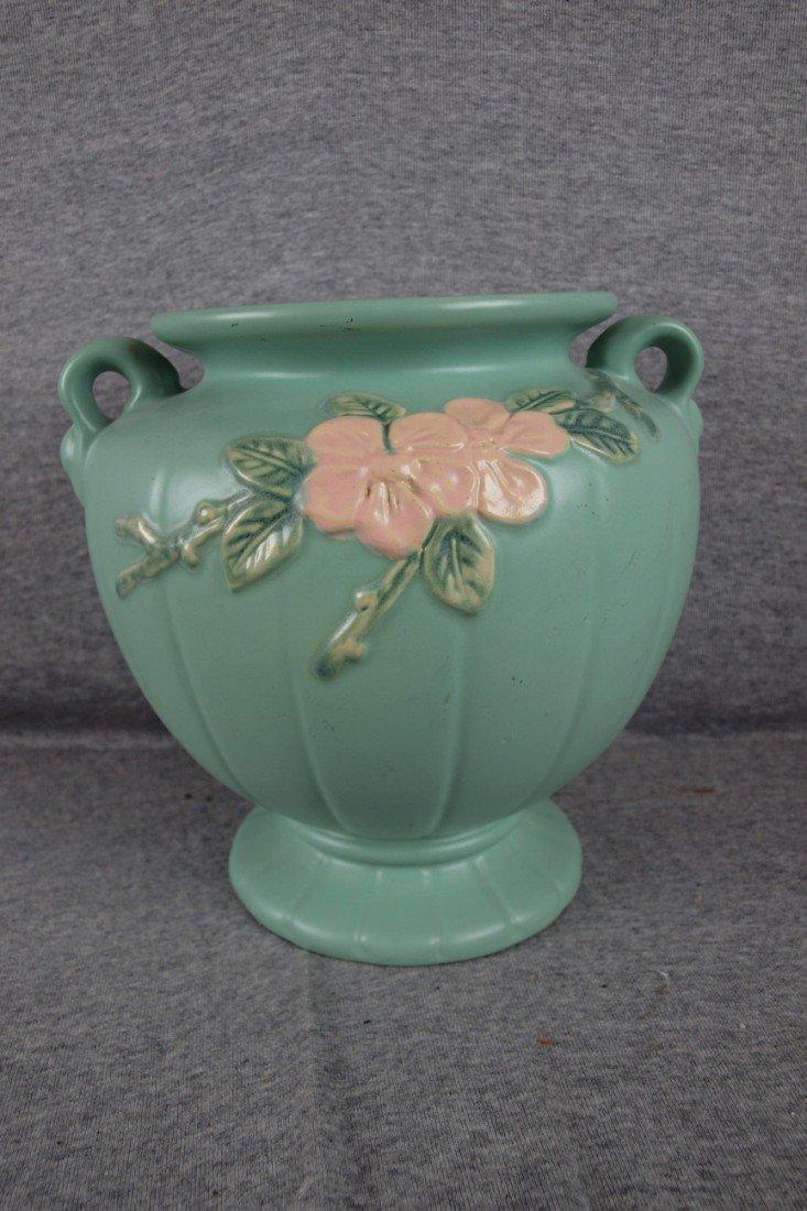 "24: Weller Blossom green large vase, 9 1/2"""
