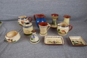 Lot Of 11 Torquay Devon Mottoware Pieces