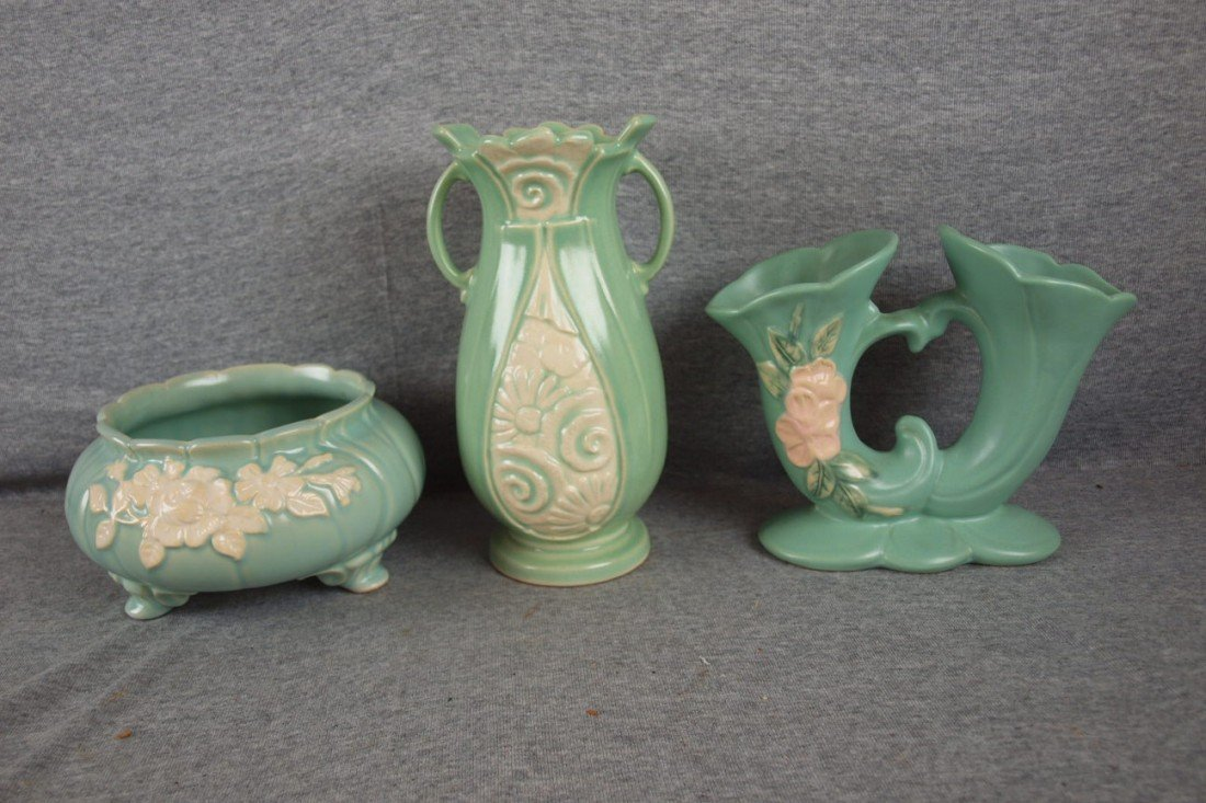 41: Weller lot of 3 planters and vases