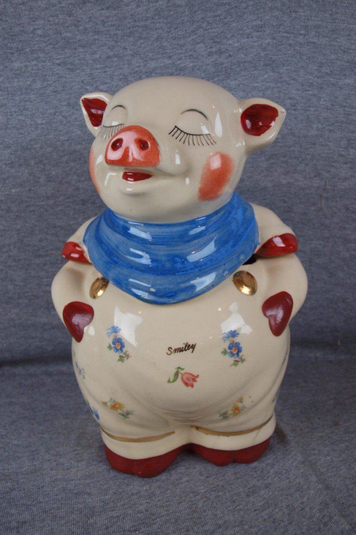 53: Shawnee Smiley cookie jar with gold