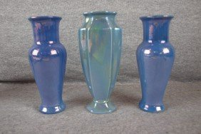 Cowan Pottery Lot Of 3 Vases, 7 1/2""