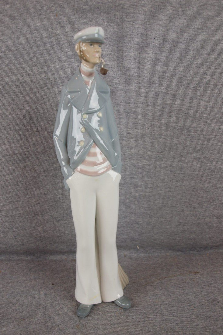 117: Lladro figure of tall sailor with pipe, 15""