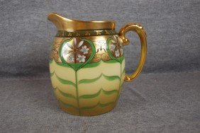 "Pickard China Pitcher With Lily Flowers, 5 1/2"", S"