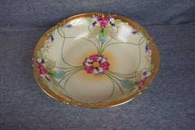 "Pickard China Bowl With Floral Motif, 8 1/4"", Sign"