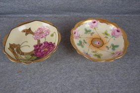 Pickard Lot Of 2 Bowls With Floral Motif