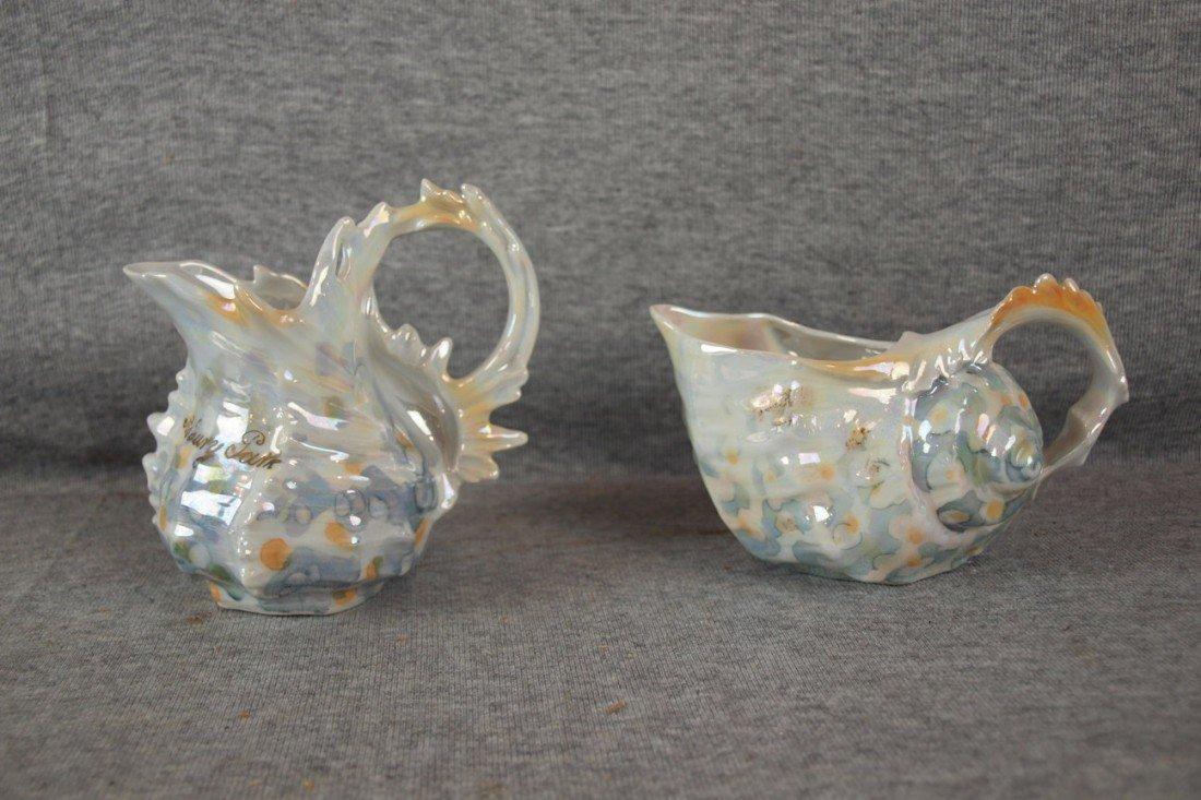 236: Royal Bayreuth lot of shell creamers