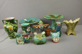 Lot Of 10 Majolica And Non-majolica Items, Various