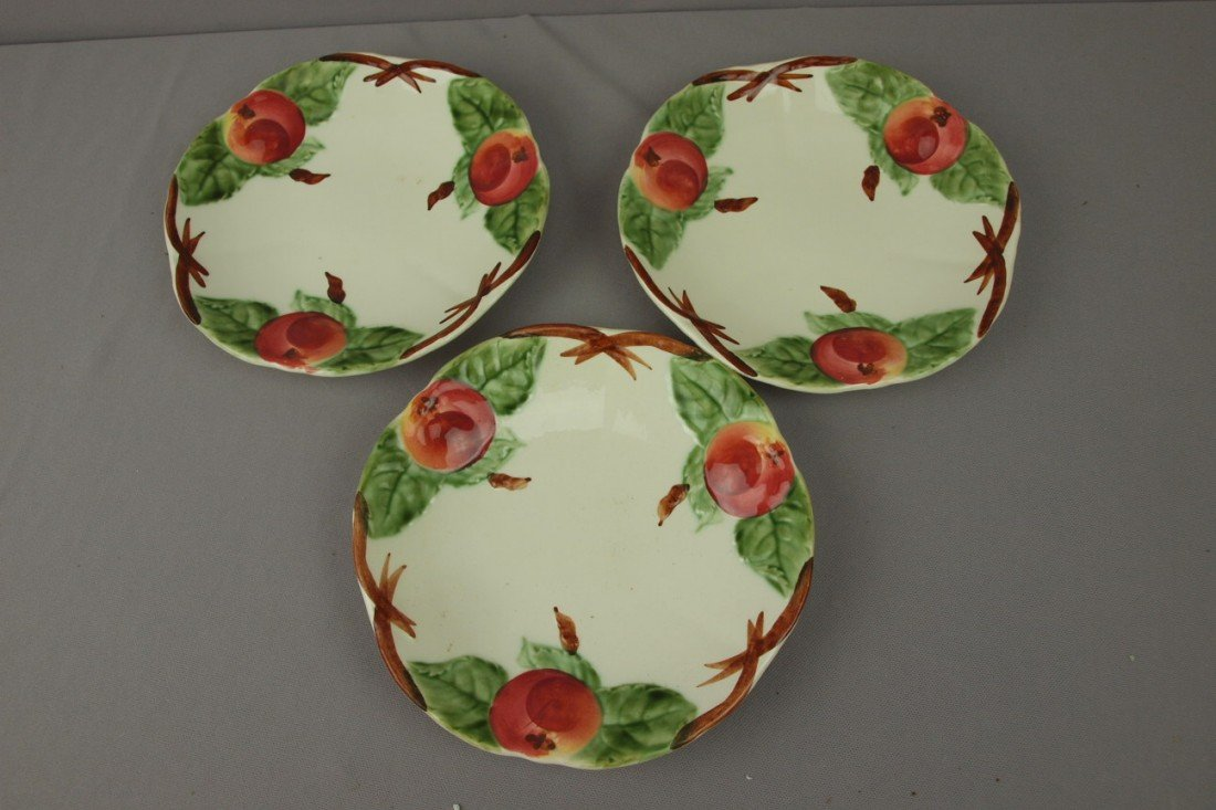 "100:  Choisey le Roi set of 3-8 1/4"" fruit plates"
