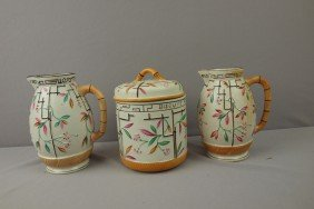 Brownhills Pottery Lot Of 2 Pitchers And Covered J