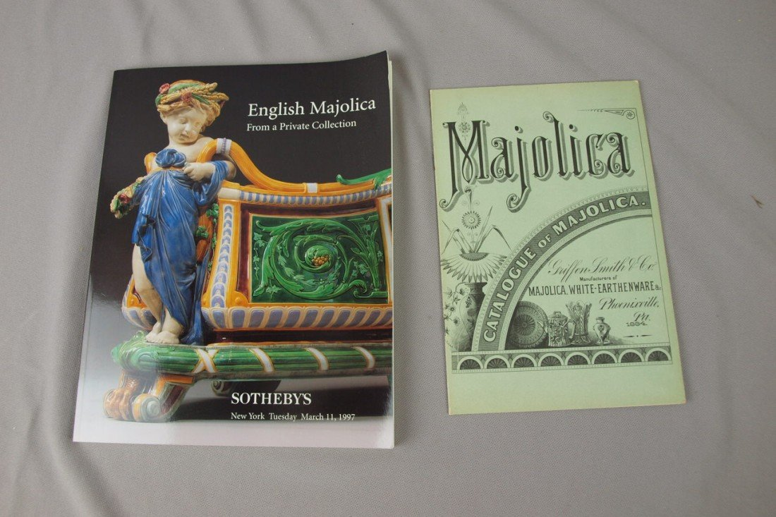 118: Auction catalog from Sotheby's English Majolica au