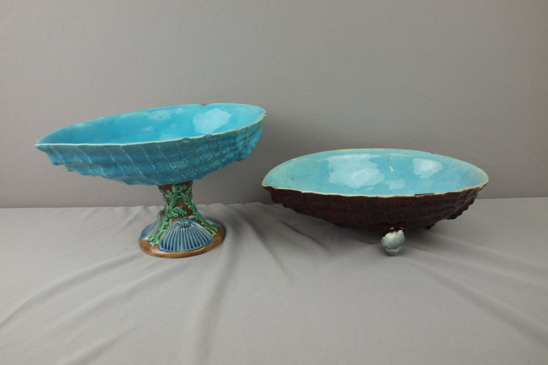 123:  HOLDROFT shell comport and shell bowl, various co