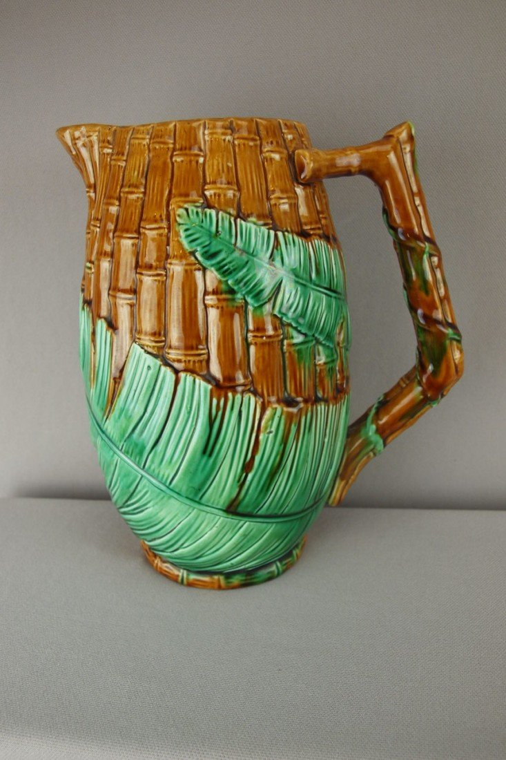 153:  Wardle bamboo and fern pitcher, 9""