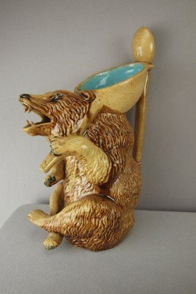HOLDCROFT Figural Honey Bear Pitcher With Spoon H