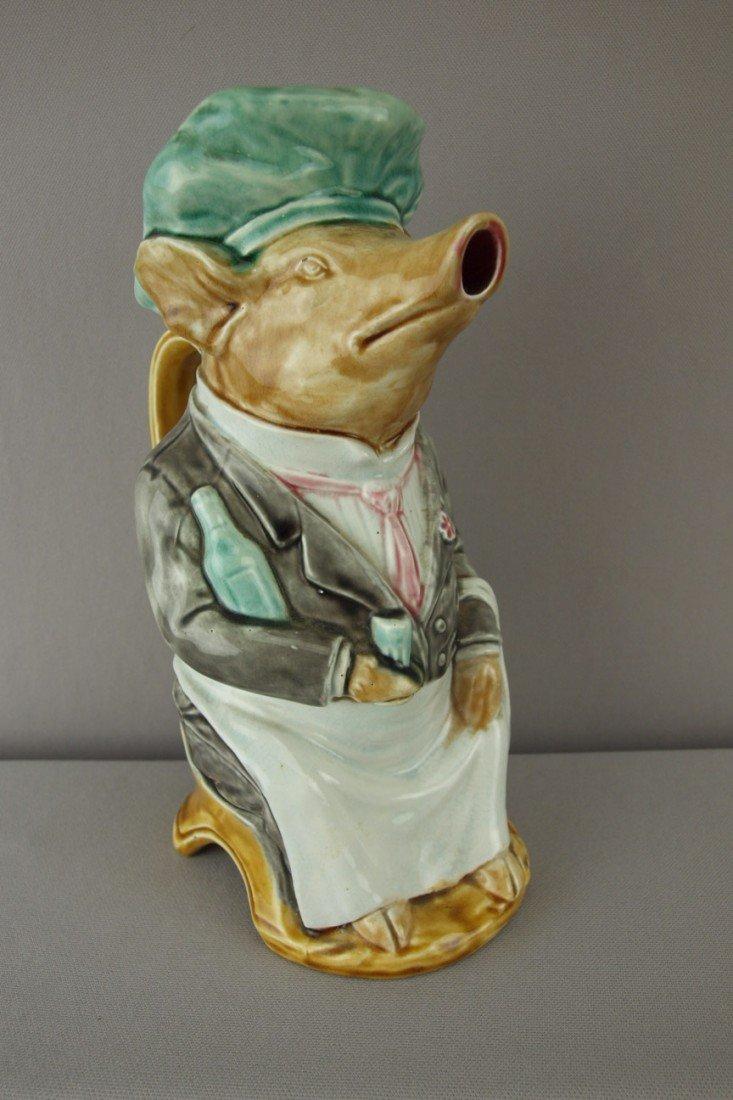 197:  FRIE ONNAING figural pig waiter pitcher, ref: Cun