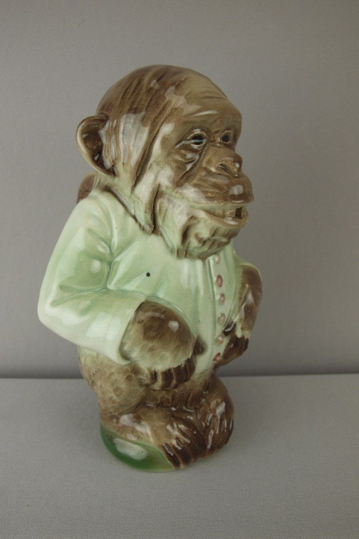 198:  St. Clement figural monkey in white jacket pitche