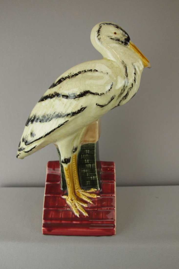 205:  Orchies French figural pelican on roof planter/va
