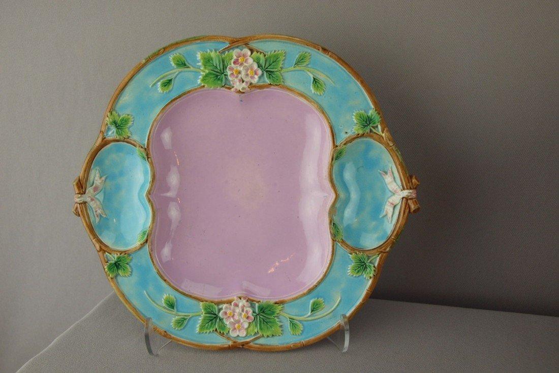 516:  GEORGE JONES rare individual strawberry plate, gr