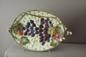 WEDGWOOD Grape And Basket Tray With Vine Handles,