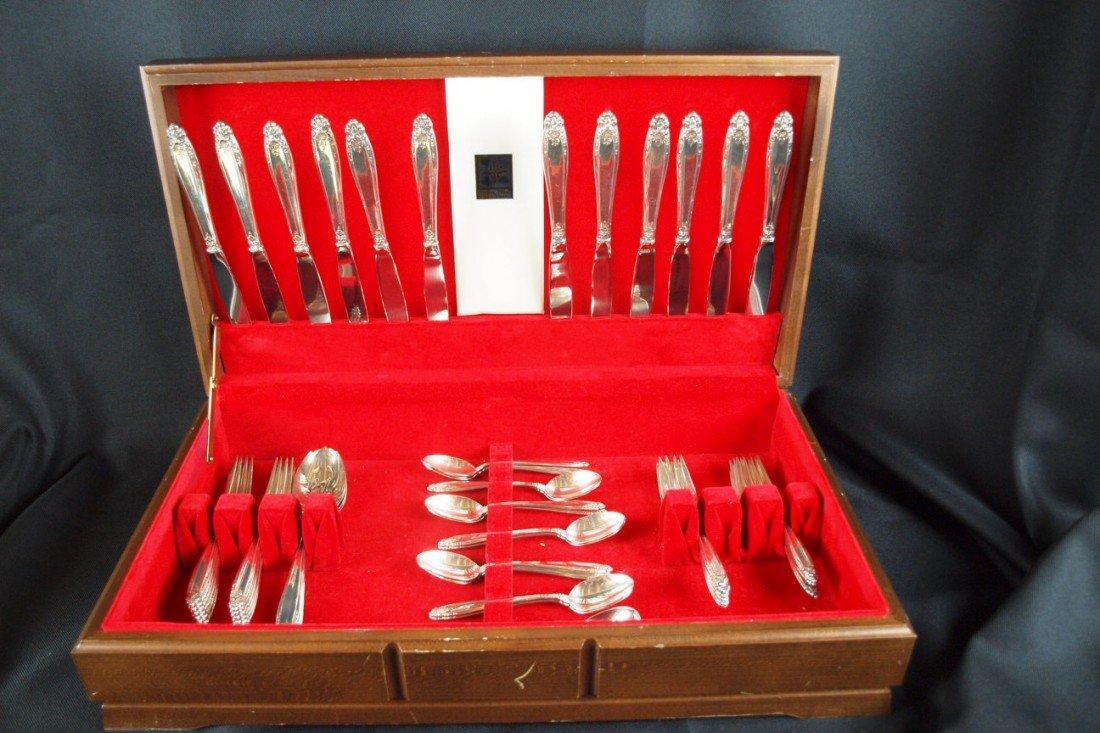 1: International Prelude sterling silver flatware servi