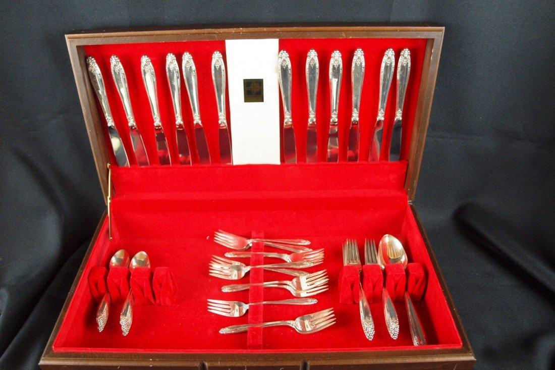 2: International Prelude sterling silver flatware servi