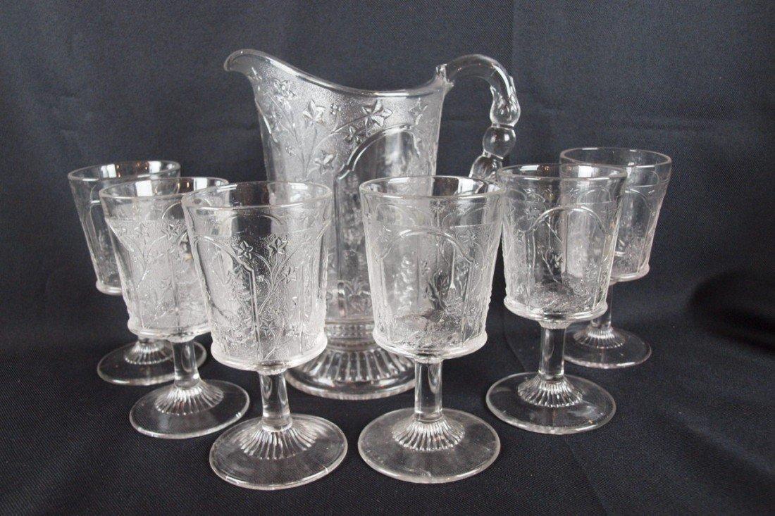8: EAPG Canada 7 piece water set